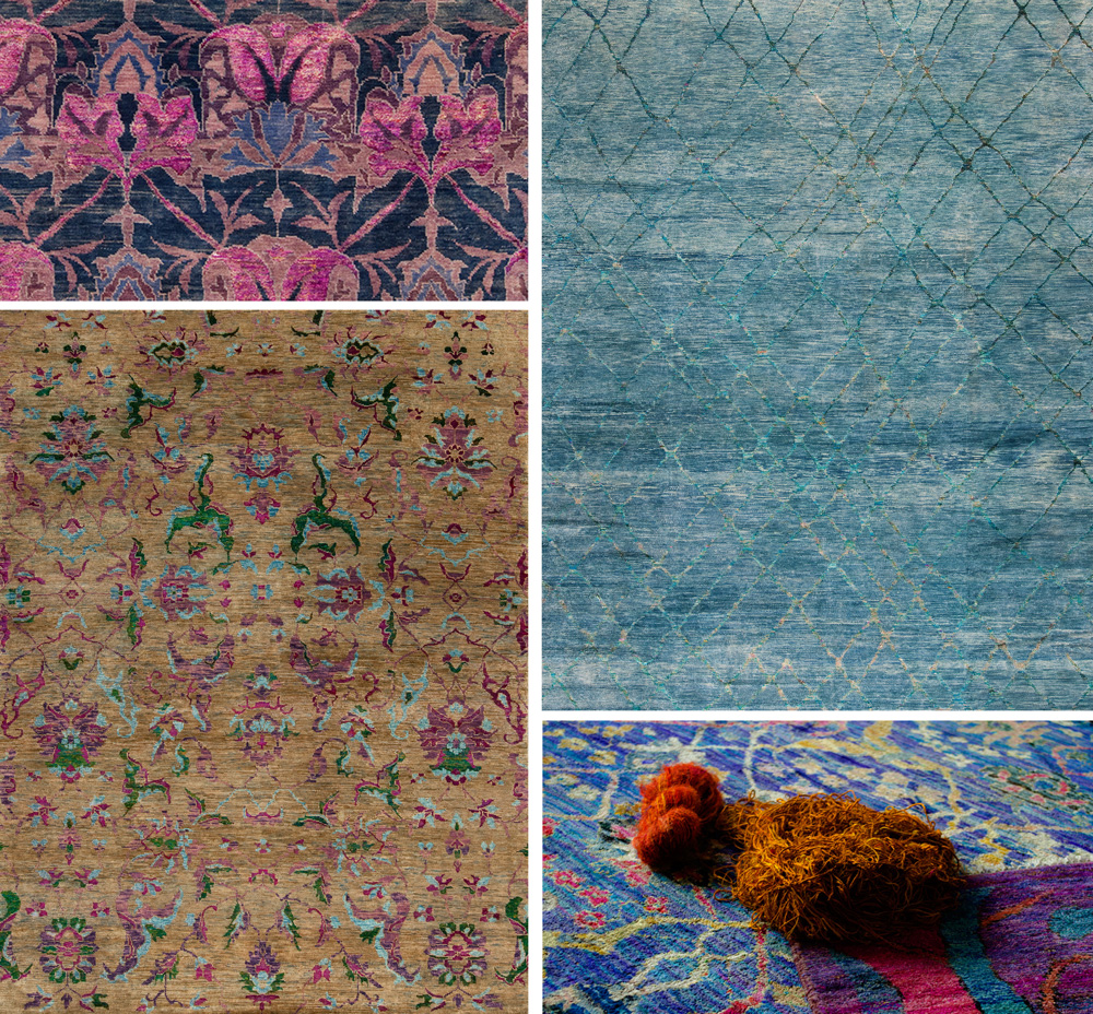 at samad we are now offering a range of vibrant handknotted rugs made with recycled sari silk an ecofriendly material that is sure to make a statement